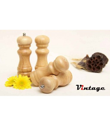 نمک و فلفل ساب چوبی جفتی وینتیج VINTAGE salt and pepper