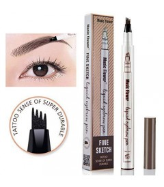 هاشورابرو3 بعدی  کیس بیوتی Kiss beauty microblading eyebrow tattoo pencil